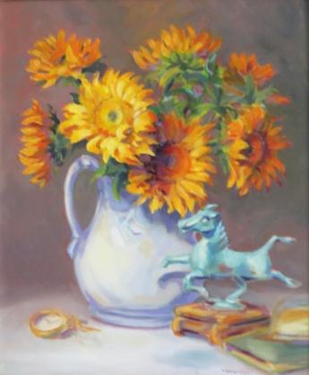 art-sunflowerswhitevase