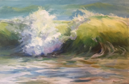 wave-36x24-crashing over