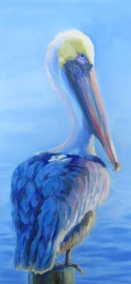 art-pelican-on-piling