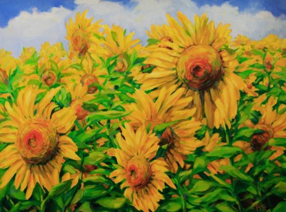 Yellow Sunshine-2018-30 x 36